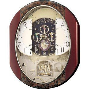 リズム時計 電波からくり掛け時計 パルタージュM473N 4MN473RA23 在庫限り