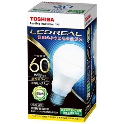東芝 LED電球 10個セット 昼白色 60W形 810lm LDA7N-G/60W E26口金 光の広がり全方向タイプ 消費電力7.3W TOSHIBA(LDA7NG60W)