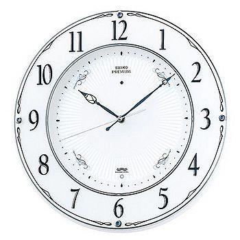 SEIKO「セイコー」 電波掛け時計 スワロフスキーを施した美しい掛時計 スイープ LS230W