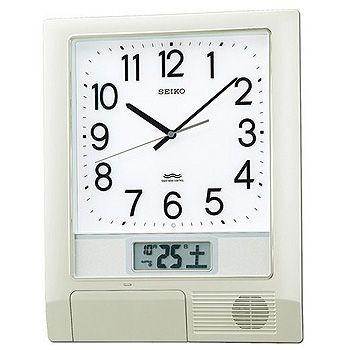 SEIKO「セイコー」 電波掛け時計 お好きな時刻をチャイムやメロディでお知らせ プログラムクロック PT201S