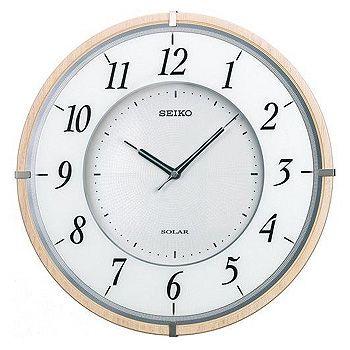 SEIKO「セイコー」 電波アナログ掛け時計 薄型ソーラープラス SF501B
