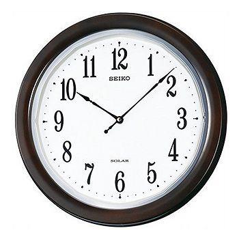 SEIKO「セイコー」 電波アナログ掛け時計 薄型ソーラープラス SF504B
