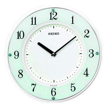 SEIKO「セイコー」 電波アナログ掛け時計 薄型ソーラープラス SF505W