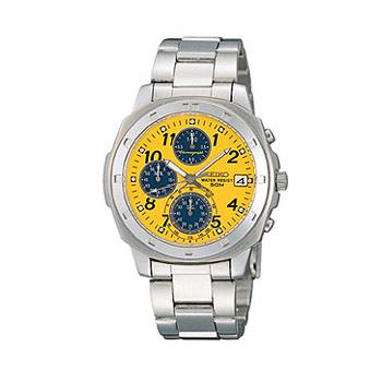 SEIKO「セイコー」 逆輸入50m防水クロノグラフ腕時計 SND409
