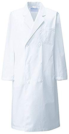 KAZEN(カゼン) メンズ診察衣W型長袖 115-30(ホワイト) L
