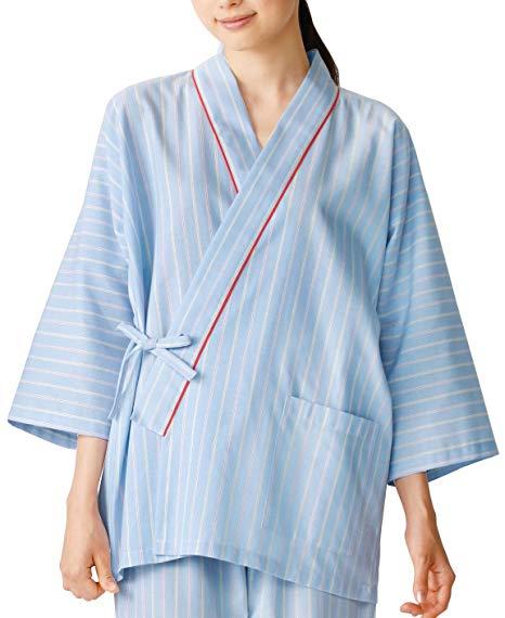 医療用 流行のアイテム ドクター ナース向けウェア KAZEN クリアランスsale 期間限定 カゼン 甚平型 L 285-98 患者衣上衣