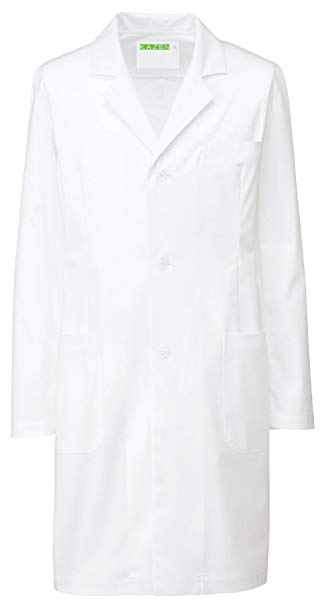 KAZEN(カゼン) メンズ診察衣S型ハーフ REP200-10(ホワイト) M