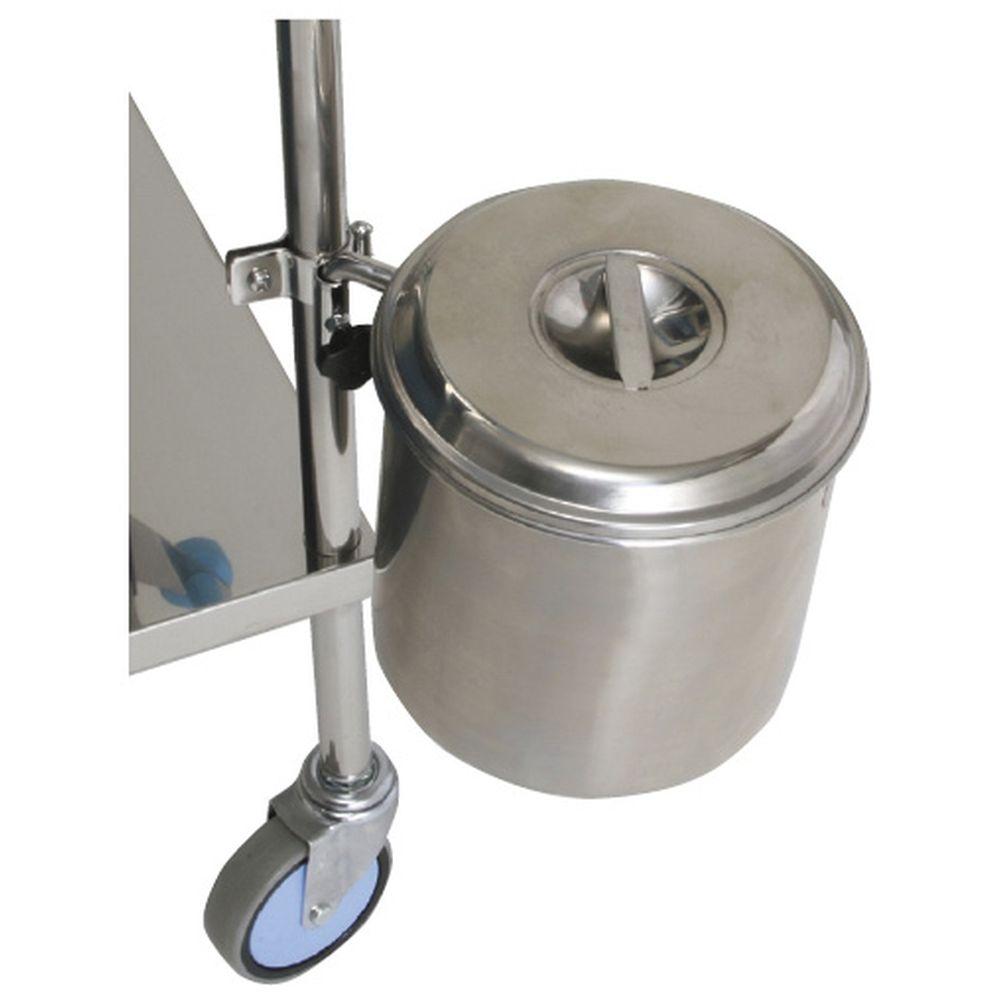 カート用取付式汚物缶(取付金具付) MY-193 1組 松吉医科器械 20-4045-00