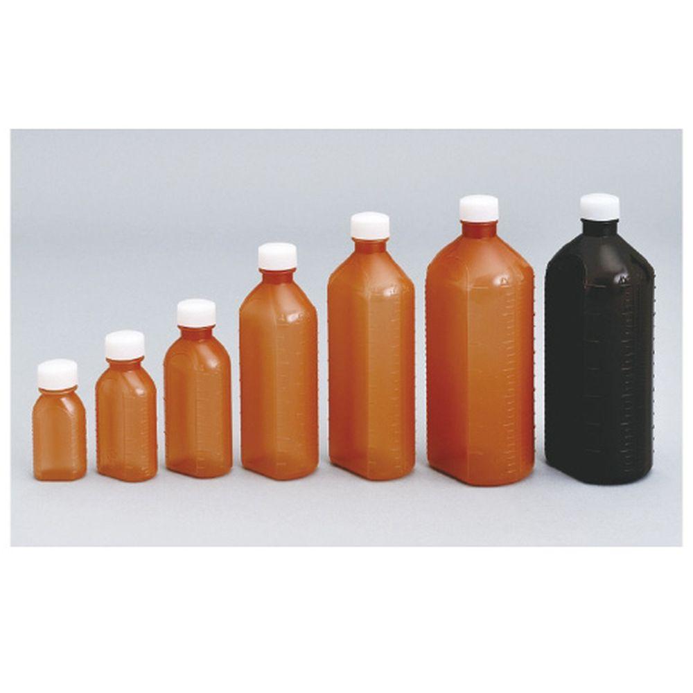 投薬瓶PPB茶(滅菌済) キャップ:透明 60CC(15ホンX20フクロイリ) 1梱 エムアイケミカル 08-2865-0206