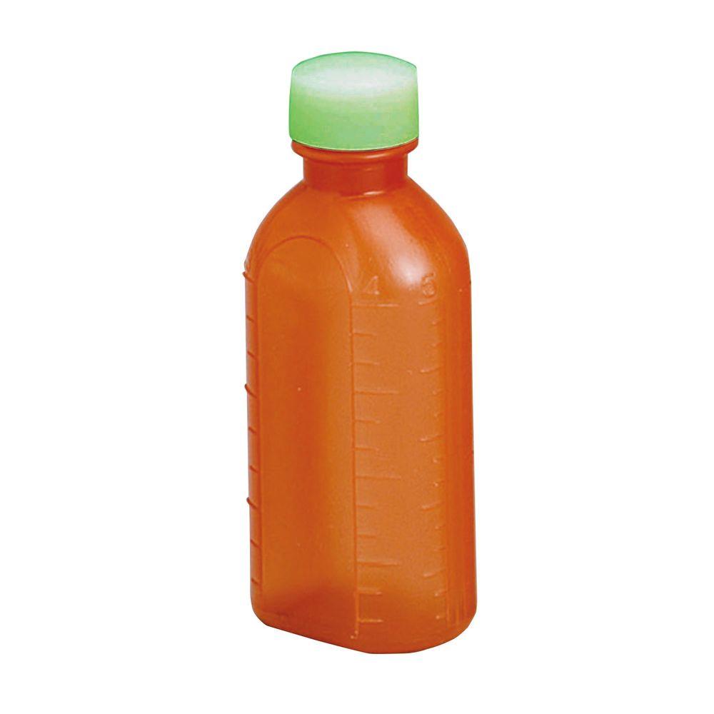 投薬瓶PPB茶(滅菌済) キャップ:緑 100CC(10ポンX20フクロイリ) 1梱 エムアイケミカル 08-2865-0303