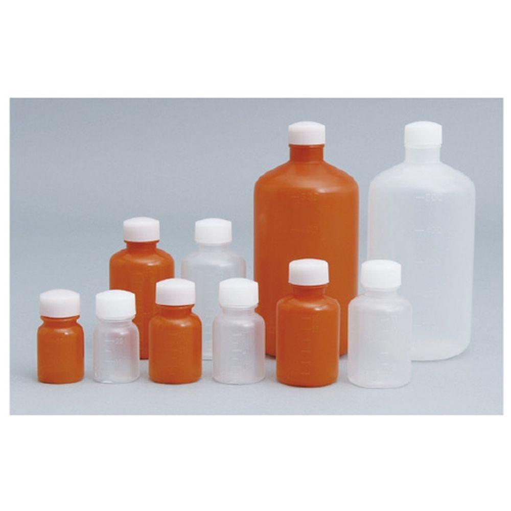外用瓶ノーマル茶(滅菌済) キャップ:赤 100CC(10ポンX20フクロイリ) 1梱 エムアイケミカル 08-2940-1605