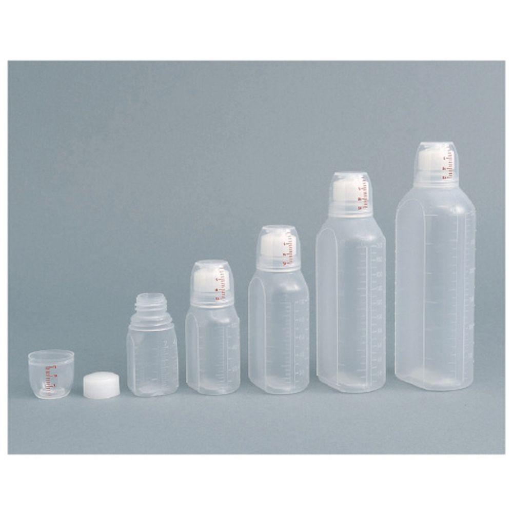 投薬瓶ハイユニット(未滅菌) キャップ:青 100CC(100ポンイリ) 1梱 エムアイケミカル 19-7320-0202