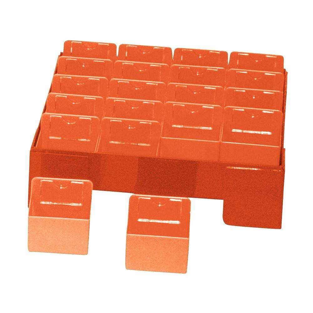 カラー散薬トレー(20人用) KT-20(オレンジ) 1台 日本医理器材 23-5663-02