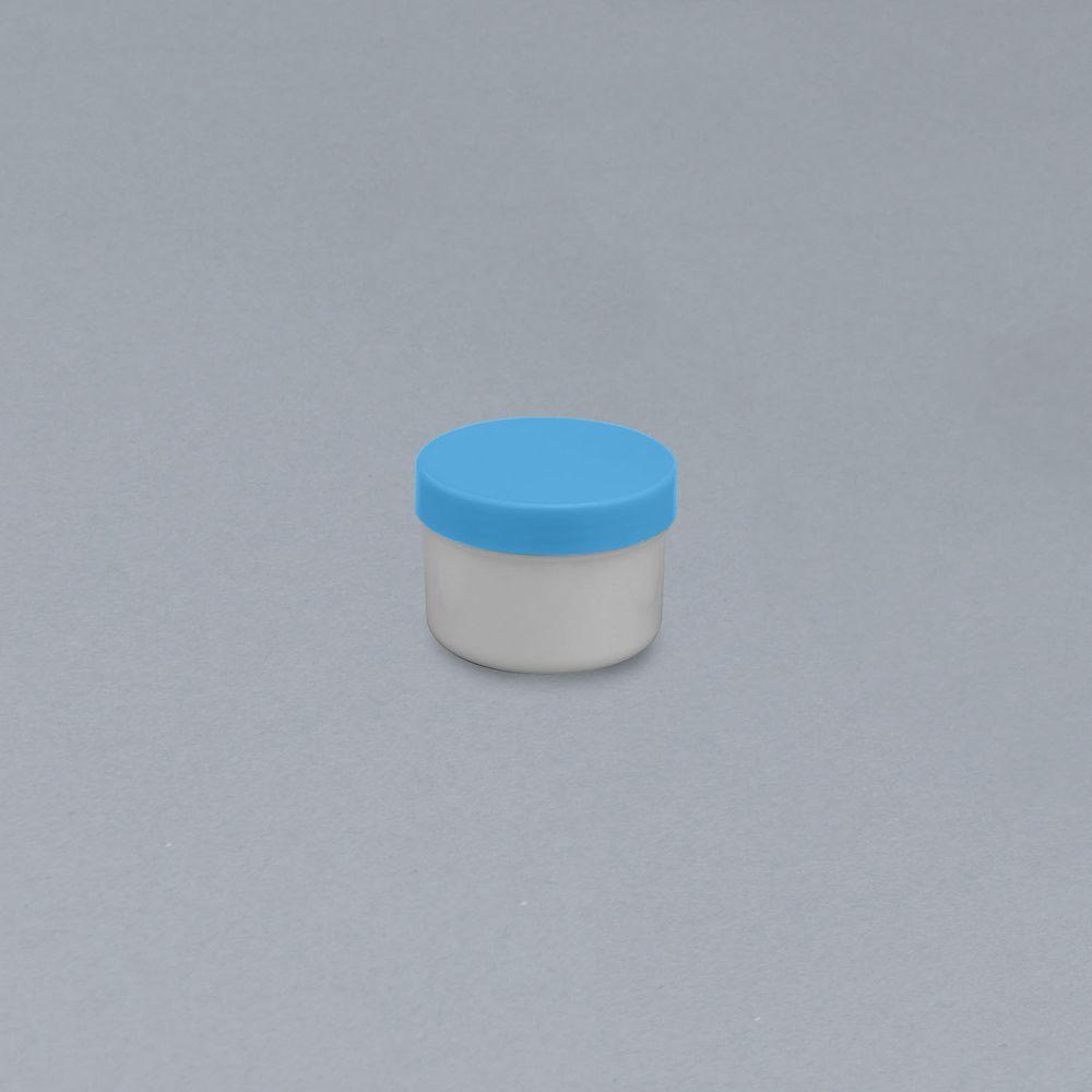 軟膏容器プラ壷N-5号(滅菌済) キャップ:青 65CC(10コX10フクロイリ) 1箱 エムアイケミカル 23-6687-0801