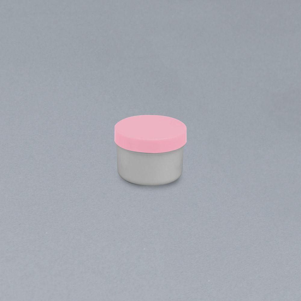軟膏容器プラ壷N-5号(滅菌済) キャップ:ピンク 65CC(10コX10フクロイリ) 1箱 エムアイケミカル 23-6687-0806