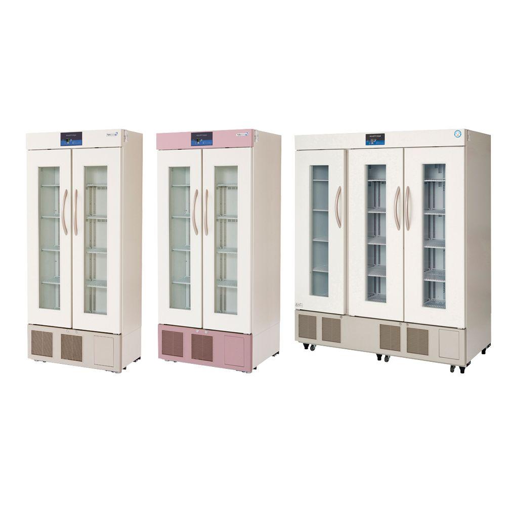 薬用保冷庫 グリーン(上部・下部パネル) FMS-504G(500L) 1台 福島工業 23-7790-0106
