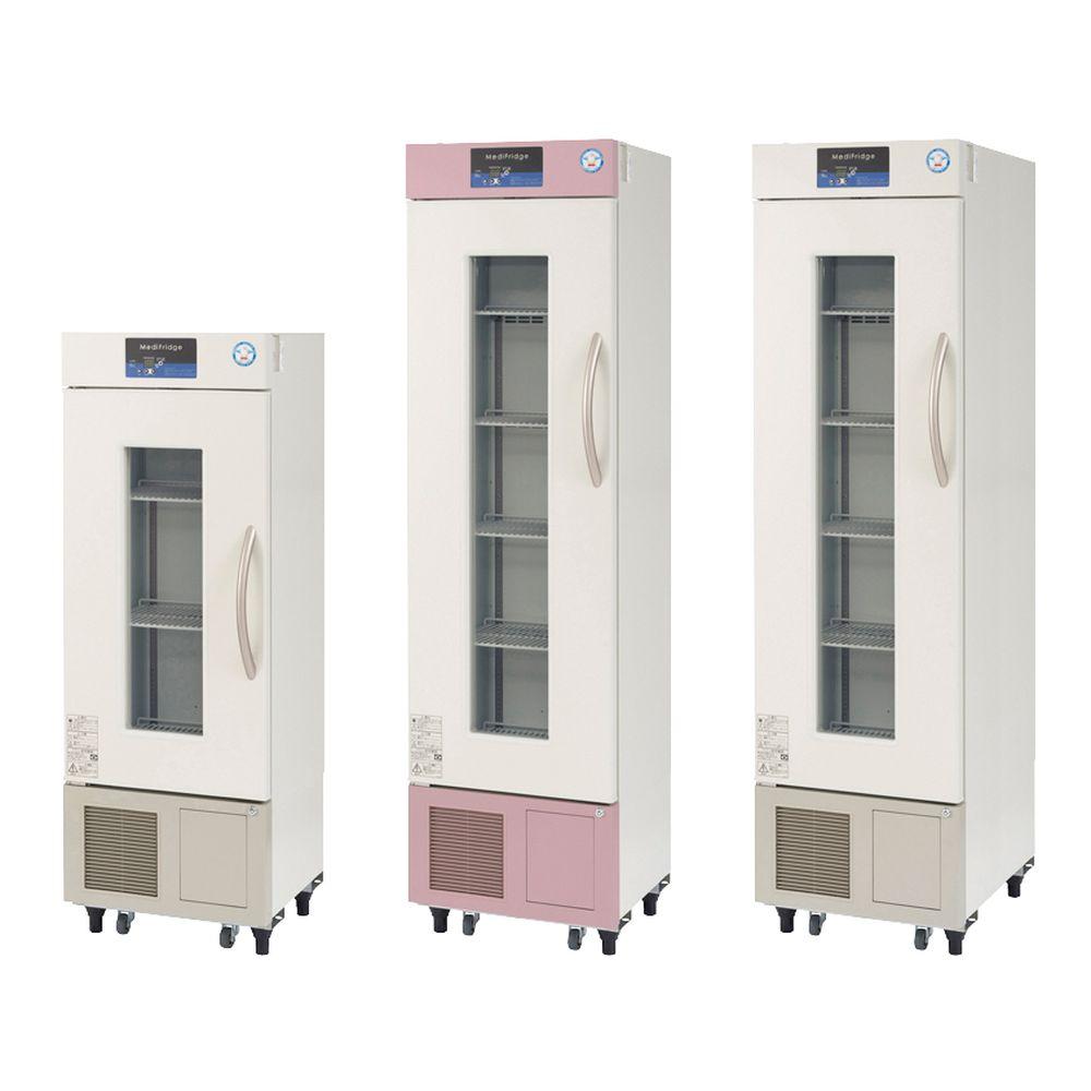 スリム型薬用保冷庫 ブラウン(上部・下部パネル) FMS-124GS(121L) 1台 福島工業 24-6257-0002