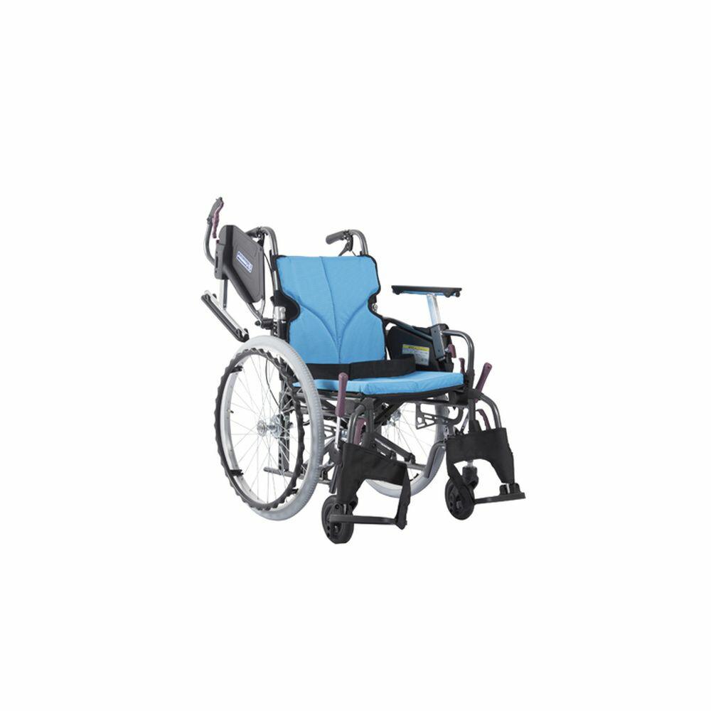 低床車いす(アルミ製)自走用 黒19 KMD-C20-40-LO 1台 カワムラサイクル 24-7621-0107