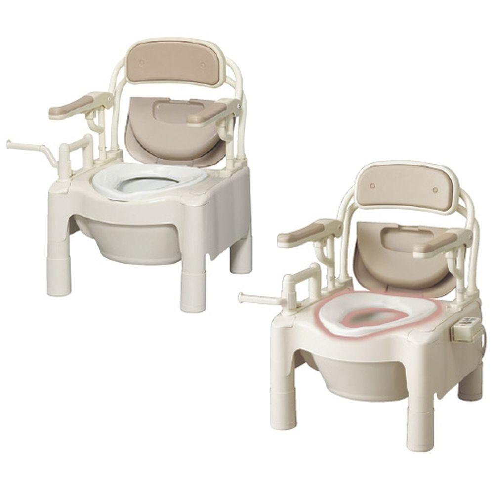 松吉医療総合カタログ アロン化成 評価 ポータブルトイレFX-CPはねあげ 534-500 ノーマル 即納送料無料 24-2410-00 1台