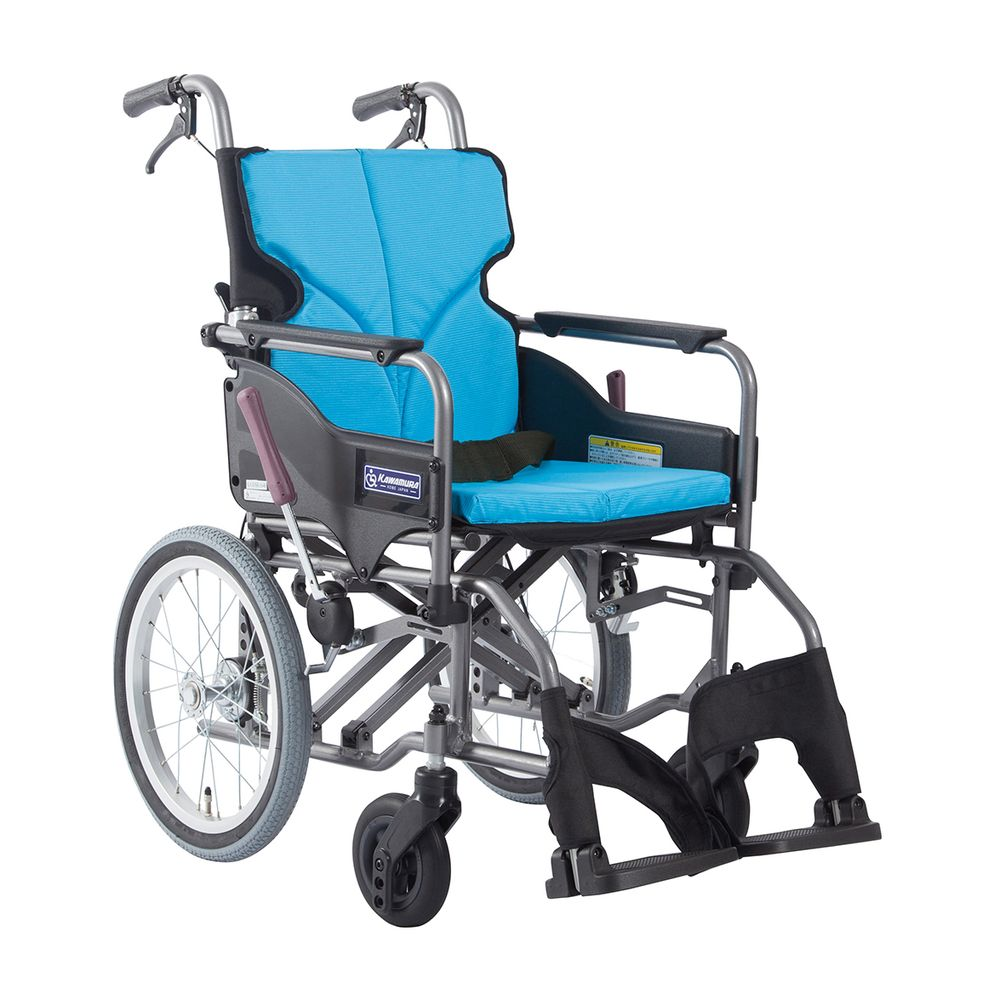 車いす モダン Aスタイル ライトブルー83 KMD-A16-42-M 1台 カワムラサイクル 24-7620-0102