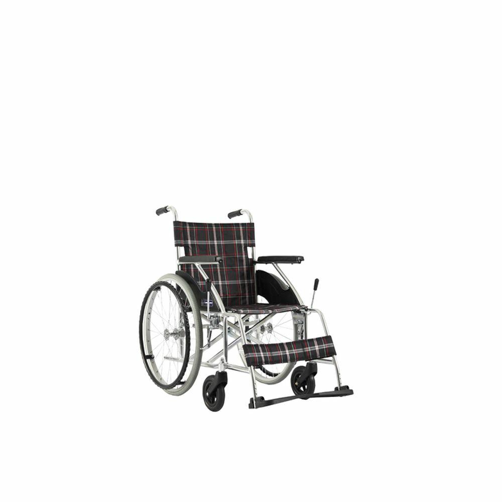 車いす(自走用・アルミ製)背固定式 KV22-40N 1台 カワムラサイクル 24-7622-00
