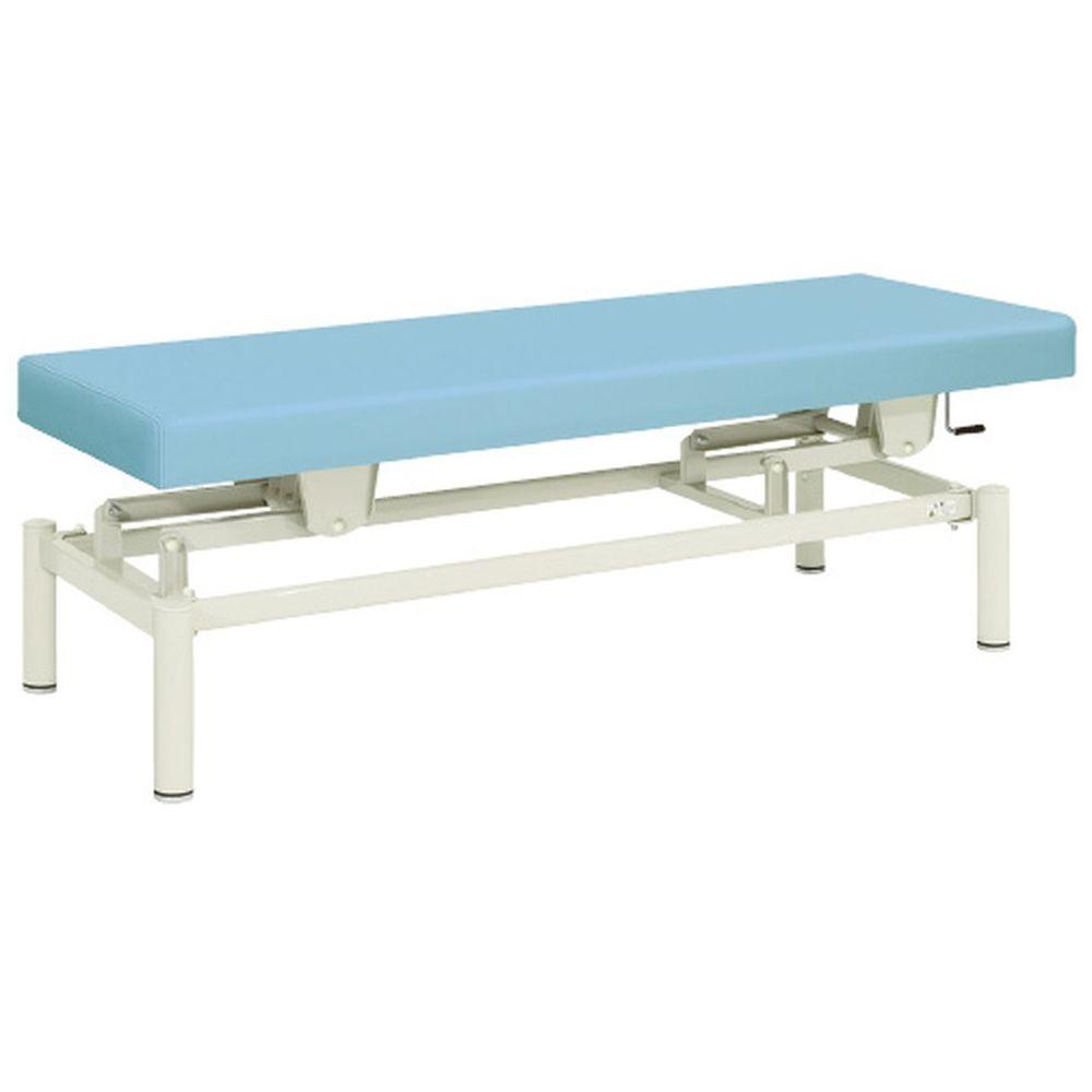 高田ベッド製作所 TB-913(W70XL180CM) 20-3742-0018 ビニルレザーライムグリーン 手動式ハイロー診察台 1台