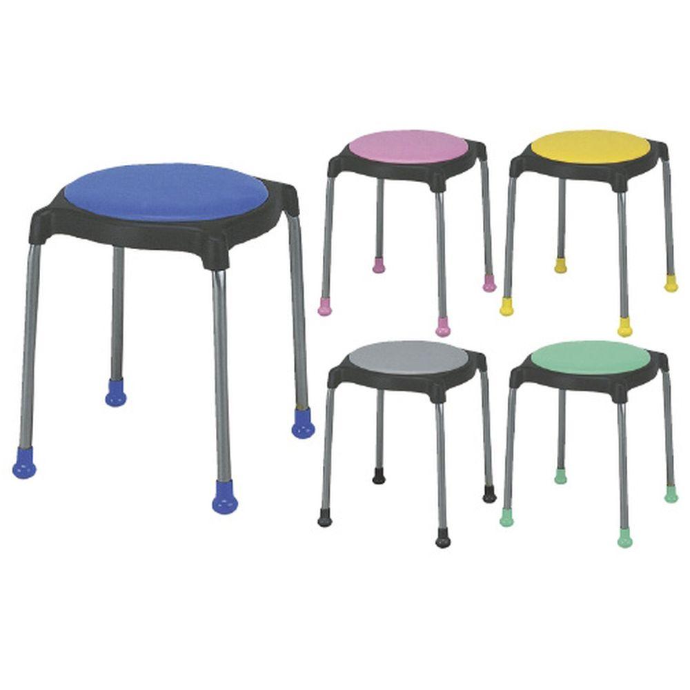 丸椅子 グリーン CUPPO-C(レザー) 1台 ニシキ工業 23-5123-0005