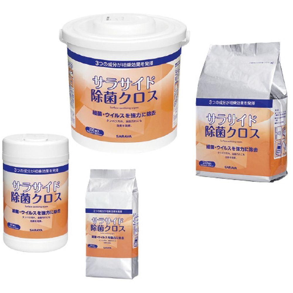 サラサイド除菌クロス(詰替) 51682(80マイイリ) 20箱 サラヤ 23-7982-01