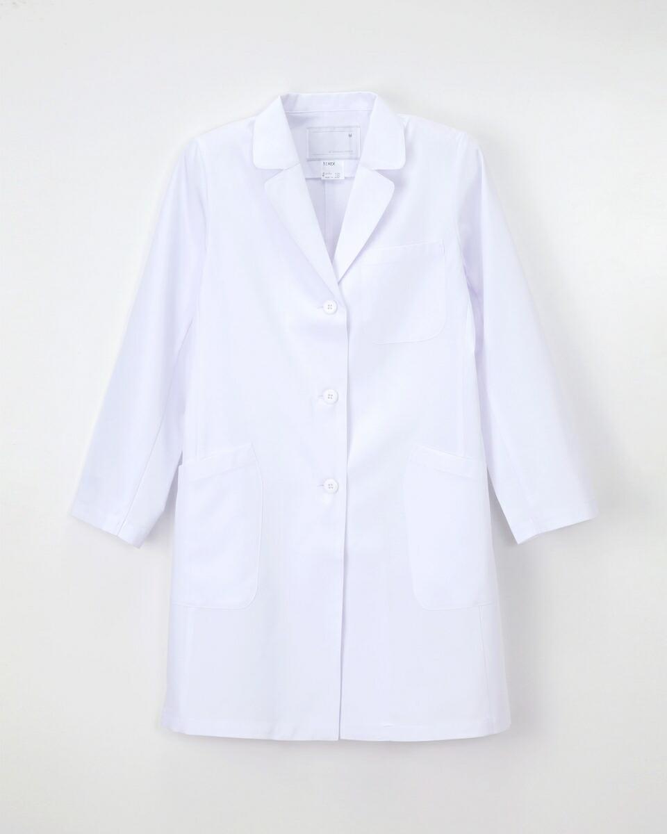 ナガイレーベン 女子シングル診察衣 KEX-5190 サイズM ホワイト
