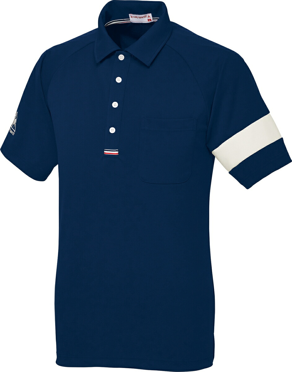 Lecoq ルコック 男女兼用ニットシャツ UZL3041-5(ネイビー) L