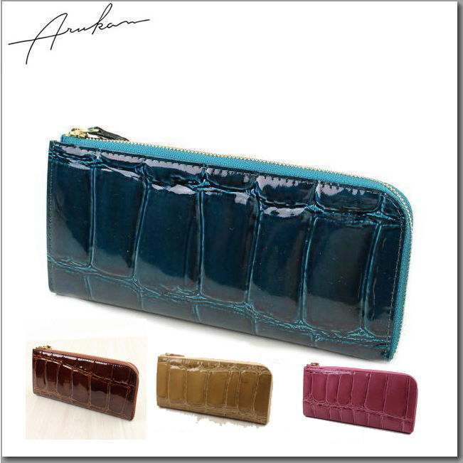 アルカン(ARUKAN) テールワニ L型ファスナー付き長財布 (送料無料)1212613 母の日