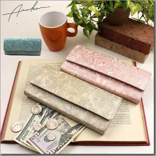 アルカン(ARUKAN) クレア ギャルソンタイプ長財布(送料無料) 1417619 小銭が見やすい四方口タイプ 母の日