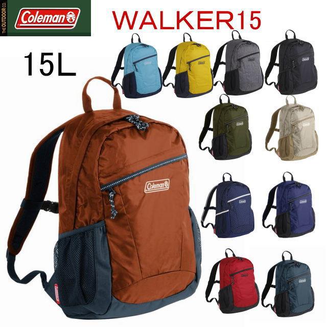 Coleman Rucksack Walker 15 War Car Bag Pack 15l Attending School Hiking