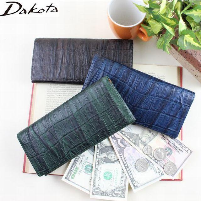 ダコタ DAKOTA メンズ長財布 ブラックレーベル クロコ型押し長財布 ウェイブ 0627202 父の日 クリスマス