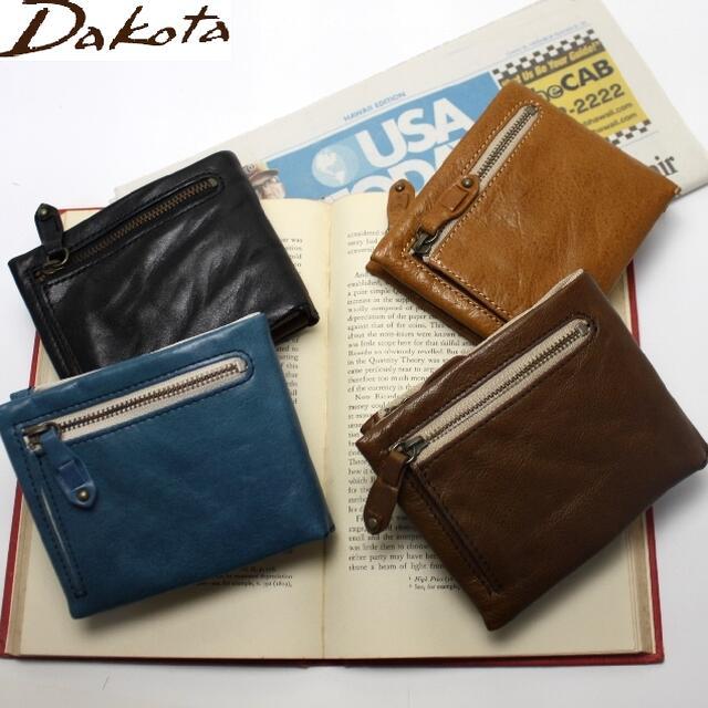 ダコタ DAKOTA メンズ財布 ブラックレーベル バルバロ メンズジッパー付き二つ折財布【送料無料】0624701 牛革 父の日 プレゼント