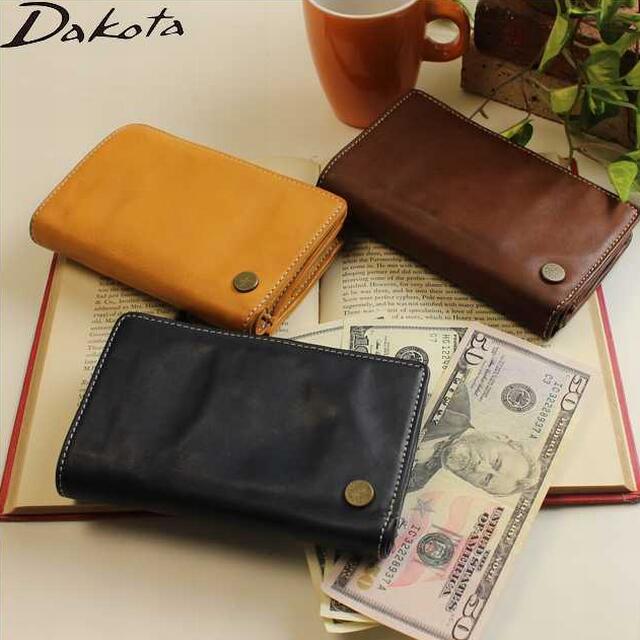 ダコタ 財布 DAKOTA 革製 メンズ財布 ブラックレーベル ベルク L型ファスナー二つ折り財布 0623507 父の日