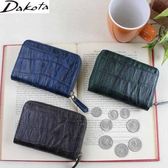ダコタ DAKOTA メンズ財布 ブラックレーベル 小銭入れ ウェイブ クロコ型押し四方口コインケース 0627204 父の日 プレゼント クリスマス