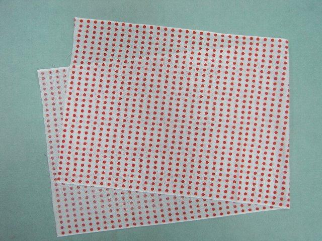 粗目の日本製手ぬぐい生地です 小物づくりやマスク用生地にも使用可能です 粗目 手ぬぐい セール特価 豆絞り風柄 お買得 日本製 マスク生地にも 長さ90cm 赤色