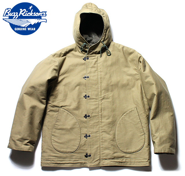 "BUZZ RICKSON'S バズリクソンズ ミリタリーType N-1 PARKA ""NAVAL CLOTHING FACTORY""ORIGINAL SPEC.No.BR14143-01(KAHKI)"