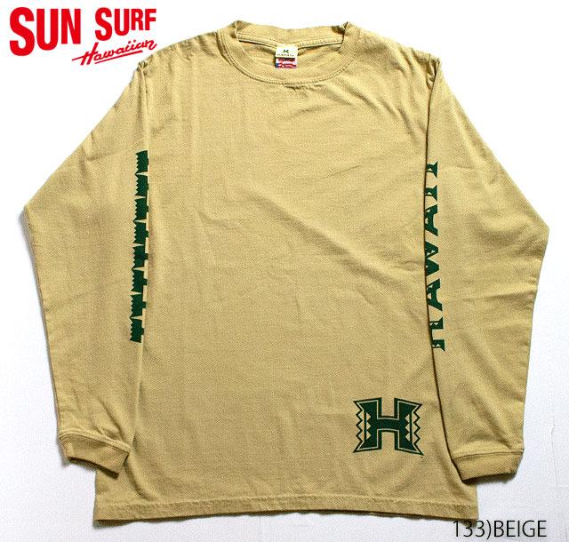 SUN SURF × University of hawaiiCREW NECK LONG T-SHIRT