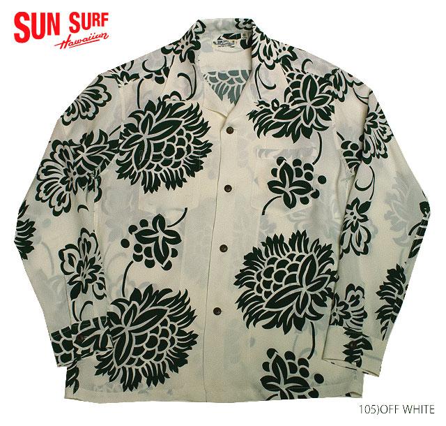 SUN SURF×別注 サンサーフ アロハシャツRAYON L/S