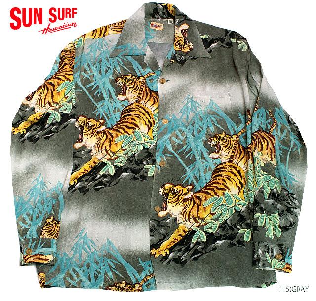 SUN SURF×別注RAYON L/S