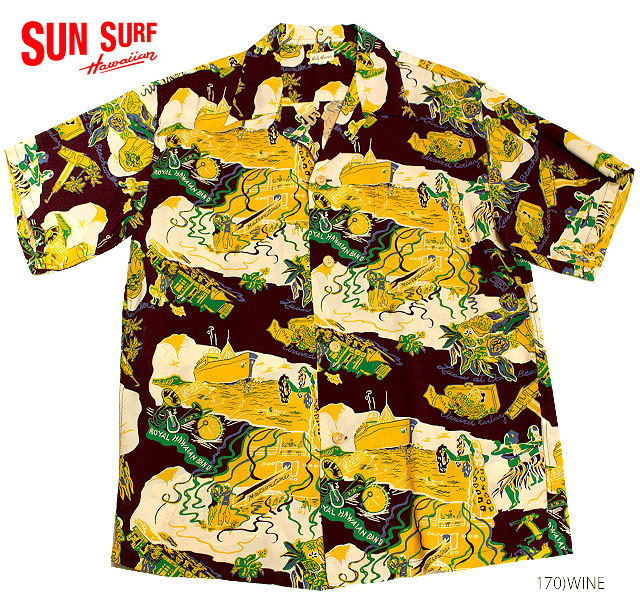 SUN SURF サンサーフ アロハシャツRAYON S/S SPECIAL EDITION HALE HAWAII