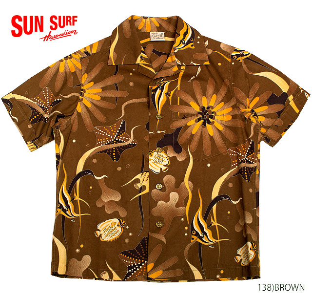 SUN SURF サンサーフ アロハシャツCOTTON S/S SPECIAL EDITION SHAHEEN'S OF HONOLULU