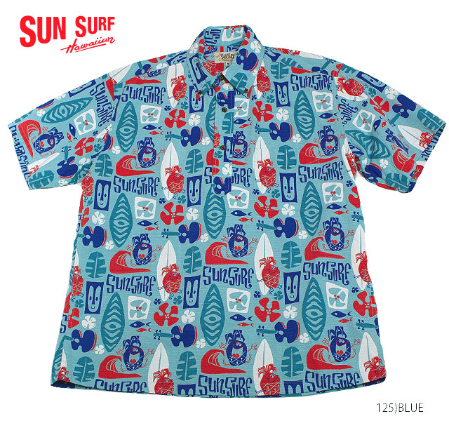 SUN SURF by Masked Marvelサンサーフ×別注 アロハシャツCOTTON P/O SHIRT