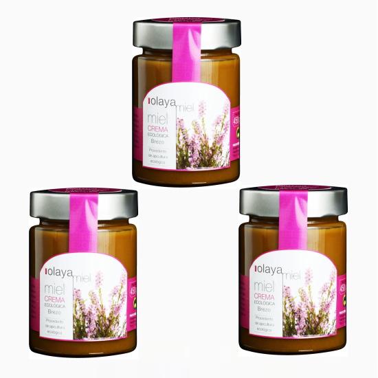 日本では珍しい蜂蜜です エリカ レッドヒース は 鉄分やミネラルが豊富で 美白成分 アルブチンが含まれていると言われています ハチミツ ミエル クリーム蜂蜜 華やかな花の香りと 450g×3 味わい深い蜂蜜です 特売 オラヤ 少しの酸味や苦味でコクを感じる 発売モデル