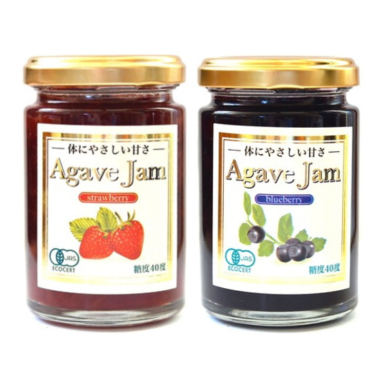 低GIアガベシロップで野生種ワイルドブルーベリーをジャムにしました 上品な香りと自然の味をお楽しみいただけます 保存料 酸味料 香料不使用 爆安 糖度40度 果実の味 果実を多く使用し果実感を大切にしています 低GIのアガベシロップのやさしい甘さ バーゲンセール 酸味と甘さを感じられる甘すぎないジャムです 有機アガベジャムストロベリー140g+有機アガベジャムブルーベリー140g