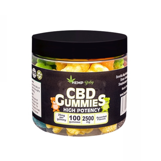HEMP Baby はアメリカ産の100%オーガニック HEMP より抽出・製造しているブロードスペクトラム製品です。CBD + CBNを1粒で摂取出来るグミです。 CBD ヘンプベイビー グミ CBD25mg + CBN5mg / 1粒 / 100粒入り HempBaby CBDグミ