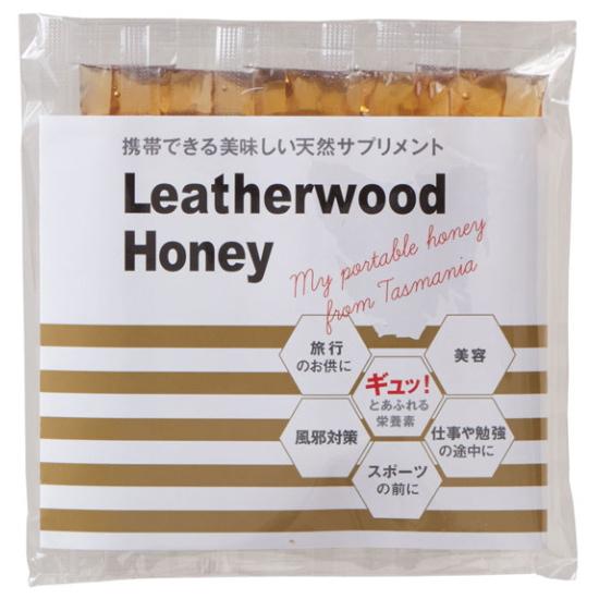 タスマニア島でしか採れない幻の希少なはちみつ 疲れた時や仕事の合間にちょうどいいスティックタイプです 生はちみつ 好評受付中 非加熱 レザーウッド ステイックハニー レザーウッドのハチミツは独特のエレガントな香りと複雑な味わいが特徴です 8g×10本 Honey Leather 早割クーポン Wood