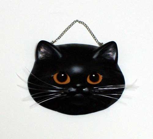 ギフト ネコ ねこ オンライン限定商品 お面 インテリア 壁掛け アート 石膏 粘土 1点もの おしゃれ 黒長毛 スコティッシュフォールド 雑貨 猫グッズ 猫面 かわいい 飾り 注文後の変更キャンセル返品 内装